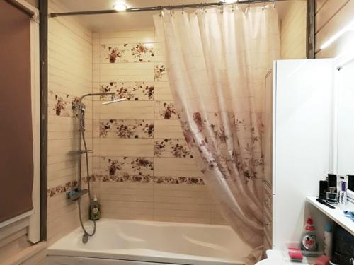 Занавеска для ванной стиль Шебби шик