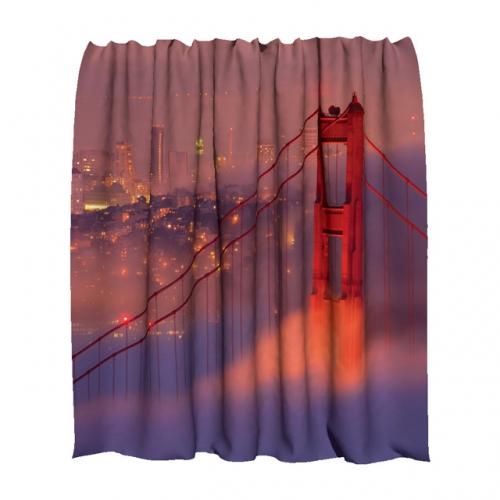 Шторка для ванной полукруглая Сан-Франциско