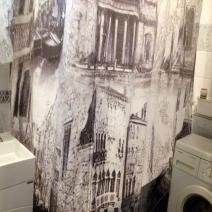 Шторка для ванной под плитку AzoriCeramic Sfumato Grey Deco