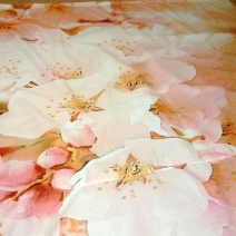 Занавеска для ванной с узором декора Cersanit Sunrise Cherry