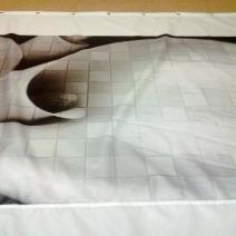Занавеска для ванной Global Tile Dekor Unica GT Graphite Kala pano