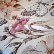 Шторка для ванной с рисунком плитки Imola ceramica vintage