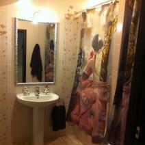 Шторка для ассиметричной ванны с изображением Триш Биддл