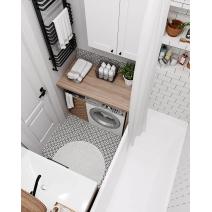 Штора для ванной в полоску