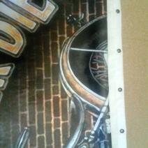Штора для ванной с мотоциклом