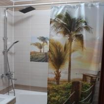 Штора для ванной 180 180 Нефрит керамика Меланж