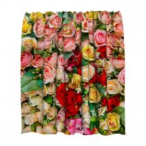 Штора для ванной розы 200 на 200 см
